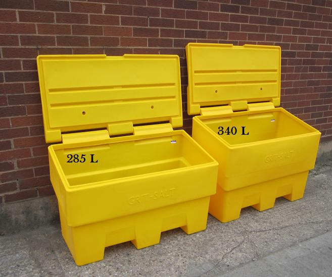 Yellow Grit & Salt Bin Outdoor Storage Bin - Capacity ...